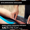 Taśma do kinesiotapingu TheraBand XactStretch 12930 różowo-biała - technologia XactStretch