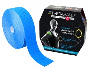 Thera-Band XactStretch 12925 taśma do kinesiotapingu 5cm rolka 31.4m niebiesko-niebieska