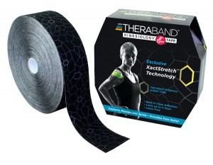 Thera-Band XactStretch 12923 taśma do kinesiotapingu 5cm rolka 31.4m czarno-szara