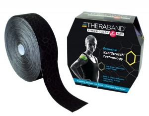 Thera-Band XactStretch 12922 taśma do kinesiotapingu 5cm rolka 31.4m czarno-czarna